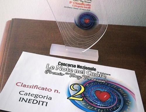 """Fabiana arriva seconda alla terza edizione del concorso """"Le note del cuore""""."""